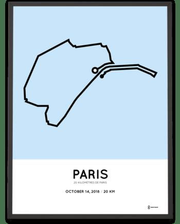 2018 20km de Paris sportymaps parcour print