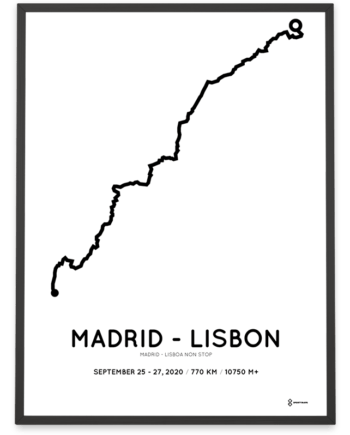 2020 Madrid-Lisboa non stop parcours poster