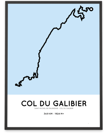 Col du Galibier from st-michel course poster