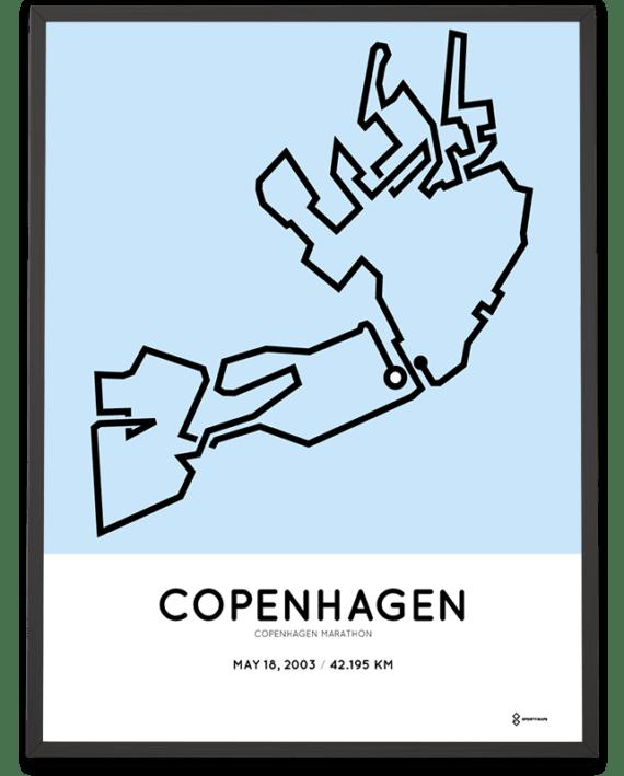 2003 Copenhagen marathon course poster