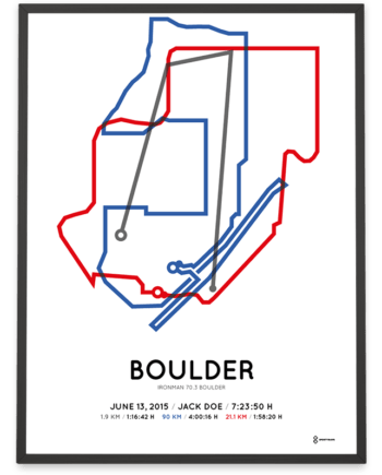 2015 Ironman 70.3 Boulder course poster