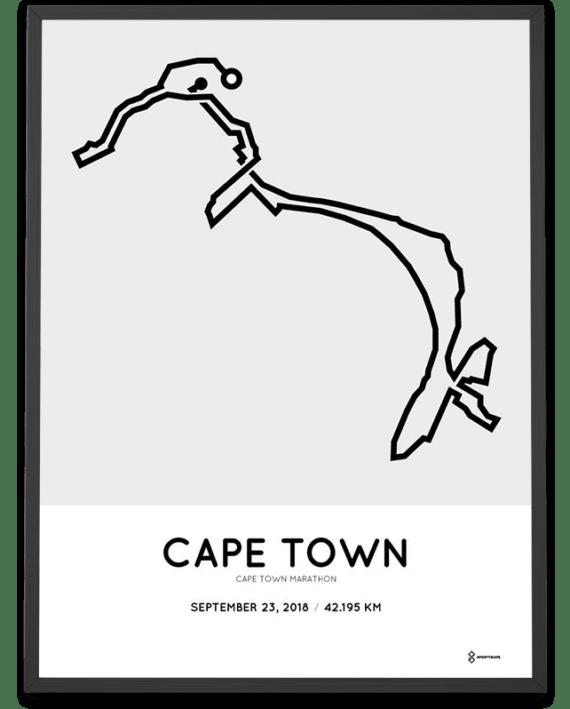 2018 Cape Town Marathon Sportymaps course print