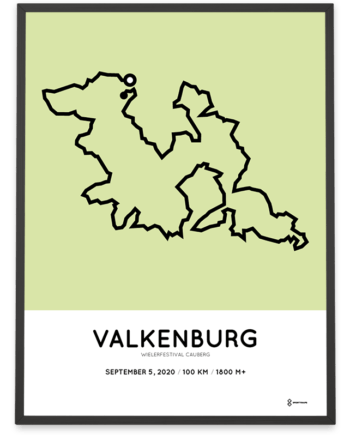 2020 Wielerfestival Cauberg 100km parcours poster