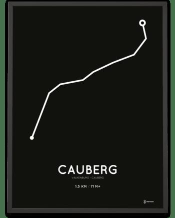 Cauberg route poster Sportymaps