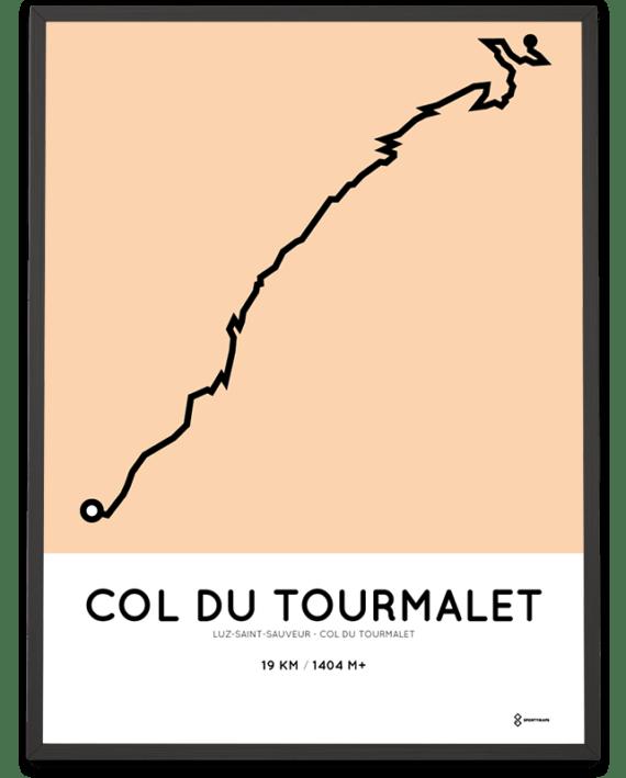 Col du Tourmalet climb Luz-st-sauveur course print