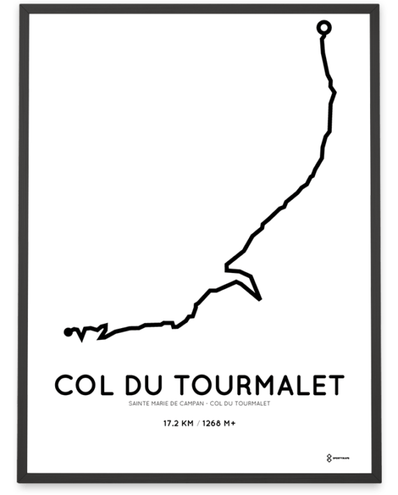 Col du Tourmalet course print starting Sainte Marie de Campan