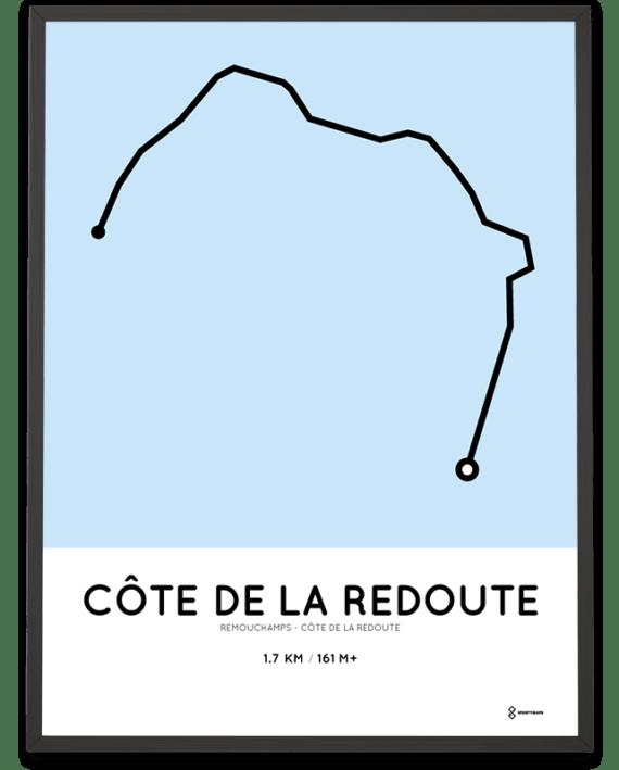 Cote de la Redoute parcours poster