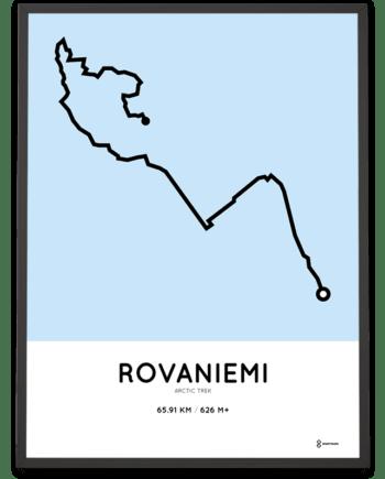 arctic trek Rovaniemi routemap poster