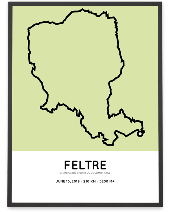 2019 Sportful Dolomiti Race parcours poster