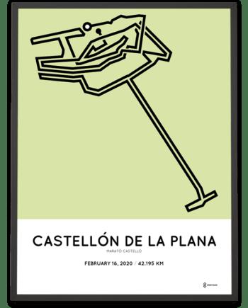 2020 Castellon marathon course poster