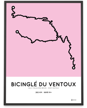 Bicingle du Ventoux Sportymaps course poster