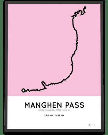 Manghen Pass Borgo Valsugana course print