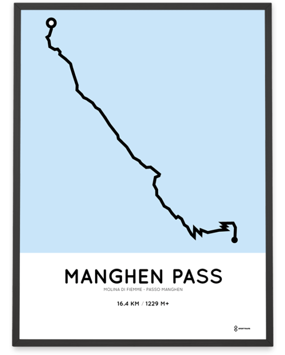 Manghen Pass Molina di Fiemme percorso print