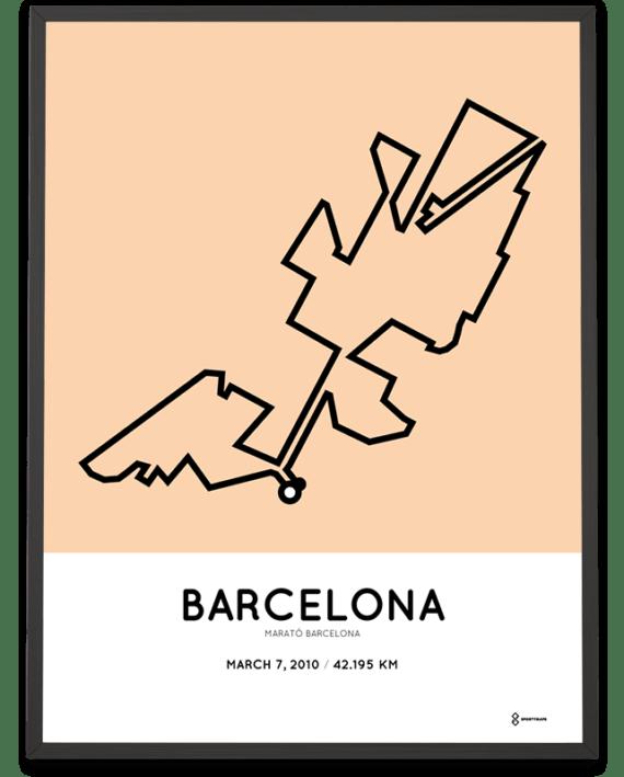 2010 Marathon Barcelona course poster