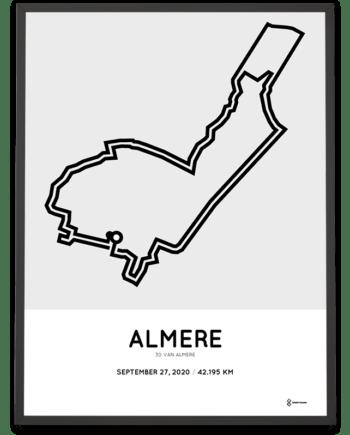 2020 30 van Almere Marathon parcours print