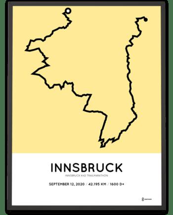 2020 Innsbruck k42 Trailmarathon route poster