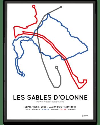 2020 Ironman70.3 Les Sables d'Olonne course poster
