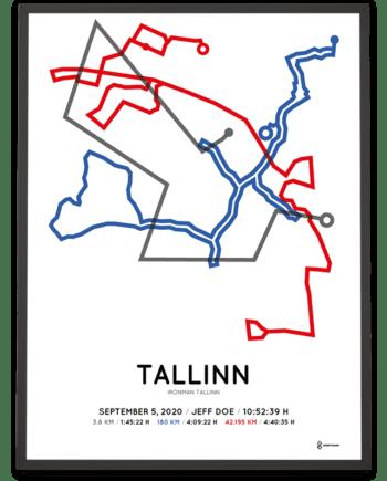 2020 Ironman Tallinn Sportymaps course poster