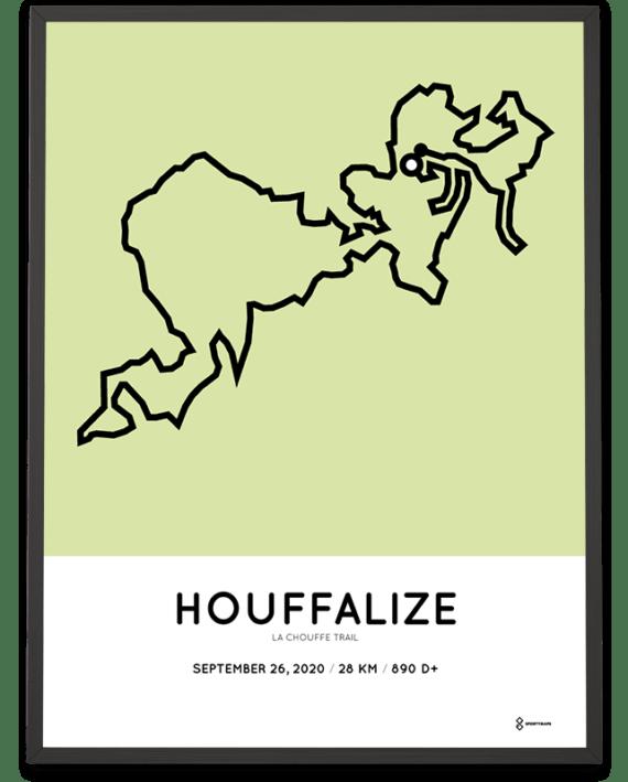2020 La Chouffe Trail 28km parcours poster