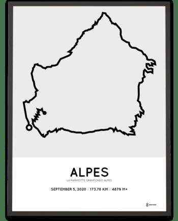 2020 La Marmotte Granfondo Alpes parcours poster