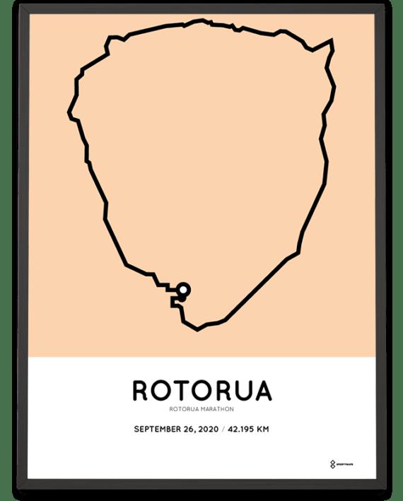 2020 Rotorua marathon course poster