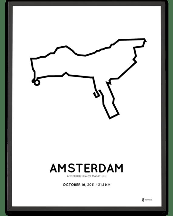 2011 Amsterdam half marathon course poster
