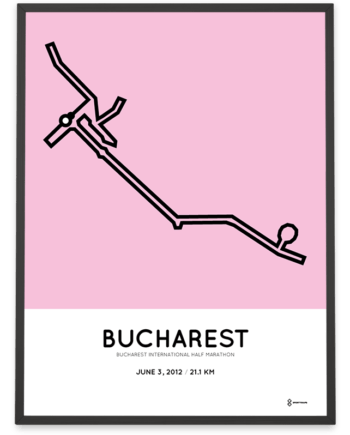 2012 Bucharest half marathon course poster