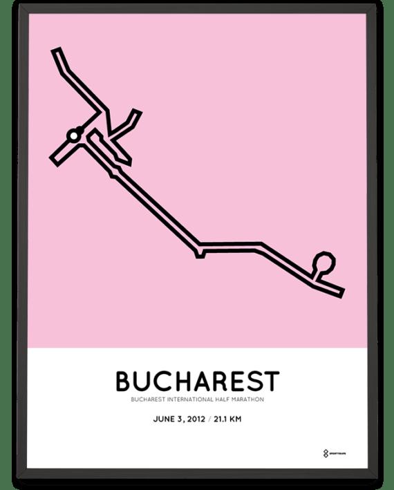 2012 Bucharest half marathon course poster