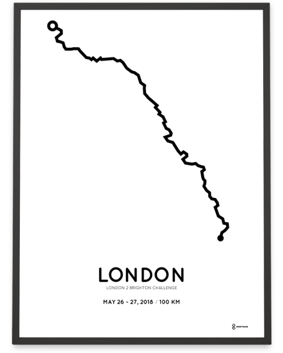 2018 London2Brighton Challenge course poster