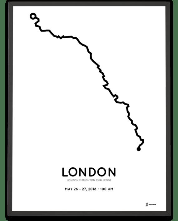 2018 London2Brighton Challenge course poster