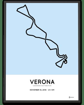 2018 Verona half marathon course poster