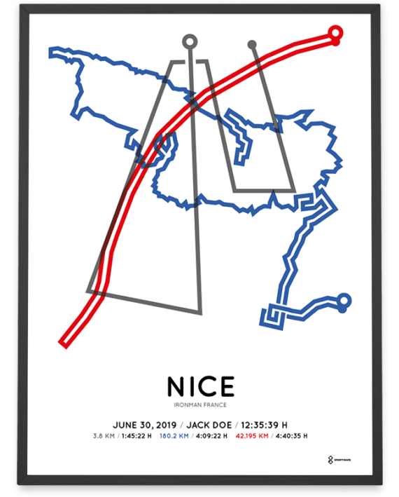 2019 Ironman Nice parcours poster