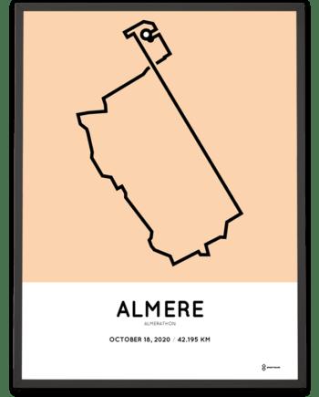 2020 Almerathon parcours poster