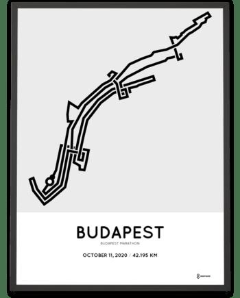 2020 Budapest marathon course poster