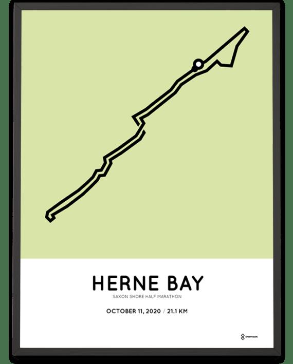 2020 Saxon Shore half marathon course print