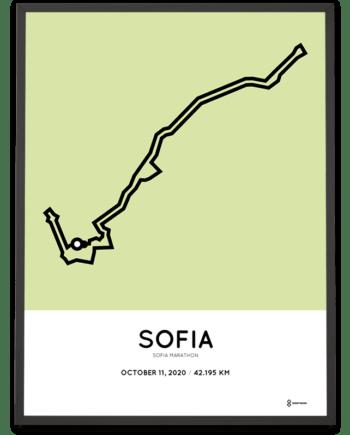 2020 Sofia marathon course poster