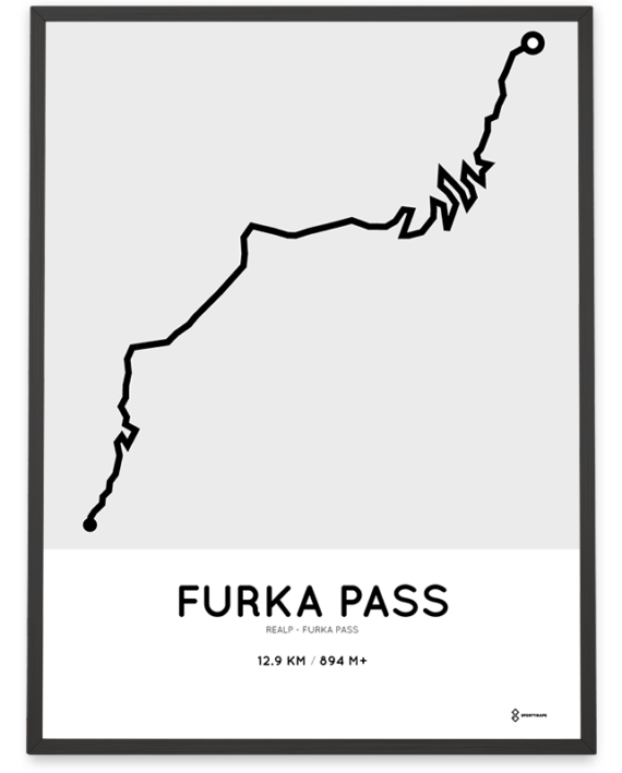 Furka Pass cycling course poster
