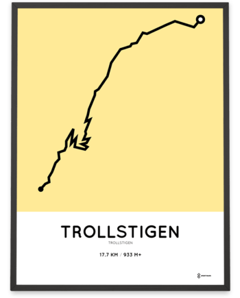 Trollstigen cycling course poster