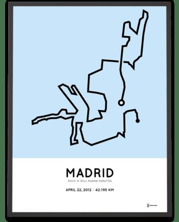 2012 Madrid maraton percorso print