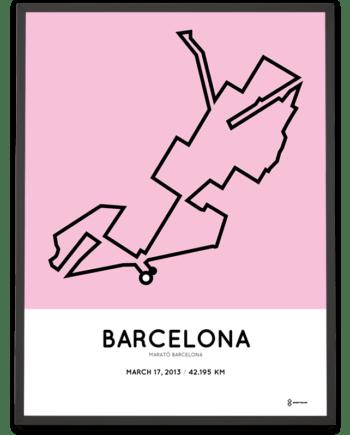 2013 Marató Barcelona percorso poster