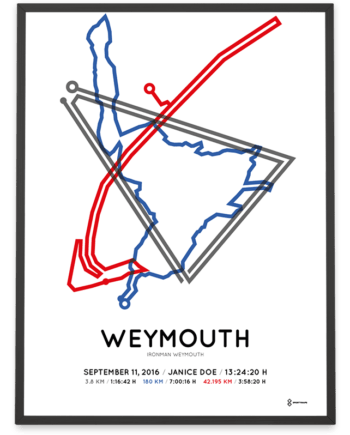 2016 Ironman Weymouth sportymaps route poster