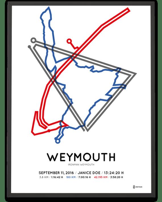 2016 Ironman Weymouth sportymaps route poster
