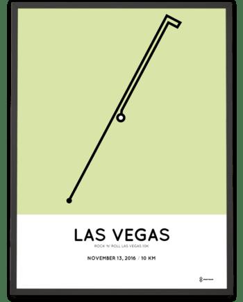 2016 Rock 'n' Roll Las Vegas 10km course poster