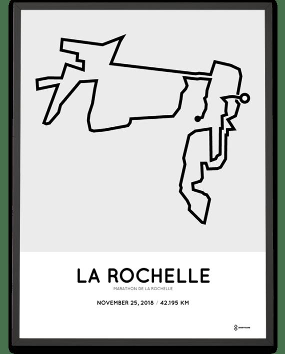 2018 Marathon de La Rochelle parcours poster