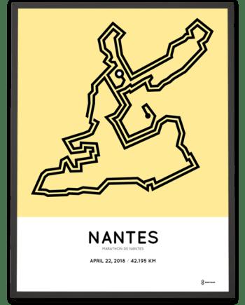 2018 Marathon de Nantes parcours poster