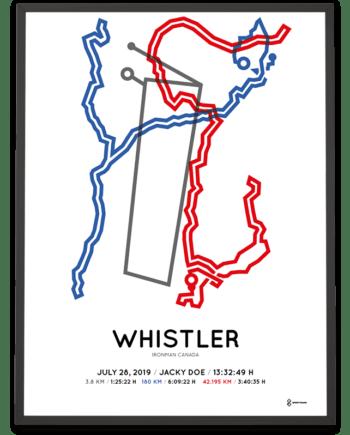 2019 Ironman Whistler course poster