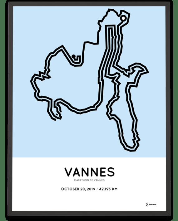 2019 Marathon de Vannes parcours sportymaps print