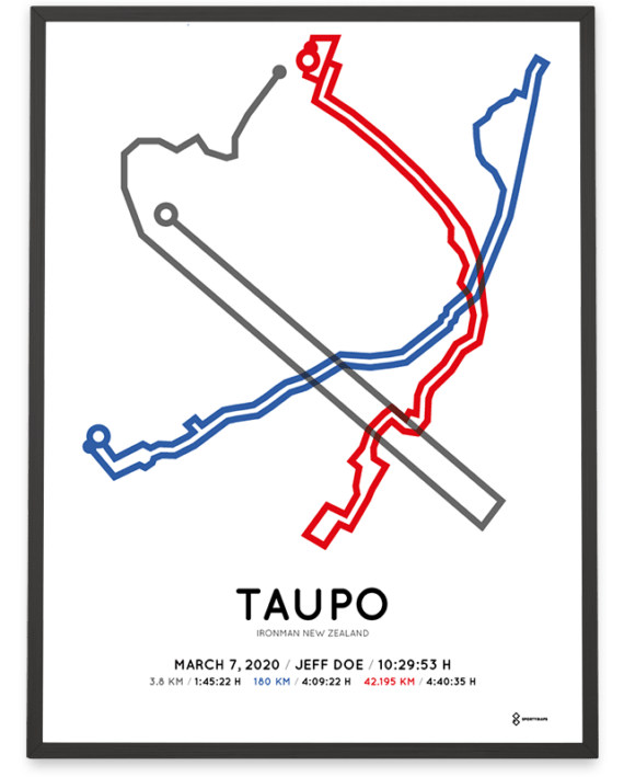 2020 Ironman Taupo course poster