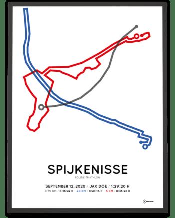 2020 Politie Triathlon sprint parcours poster
