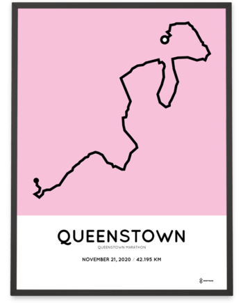 2020 Queenstown marathon course poster